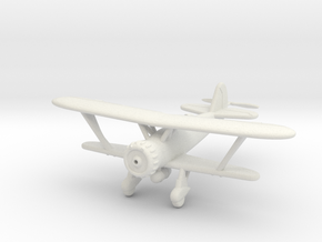1/100 Henschel Hs-123 in White Natural Versatile Plastic