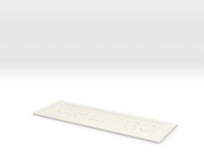 by kelecrea, engraved:  C.P.L.   ROSEP. JAMES in White Natural Versatile Plastic