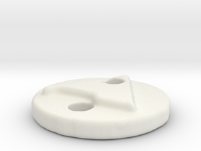 Button-A in White Natural Versatile Plastic