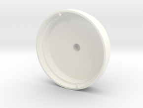 Drivelid Outer V6 Lock Thick in White Processed Versatile Plastic