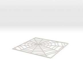 SpiderWebTileStep5 in White Natural Versatile Plastic