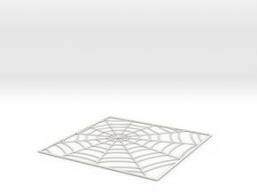 SpiderWebTileStep5 in White Natural Versatile Plastic