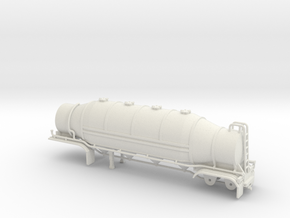 S-scale 1/64 Dry Bulk Trailer 09b 1625 Superflo in White Natural Versatile Plastic