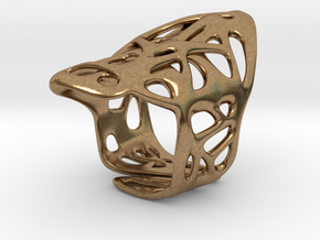 The Weave Ring in Natural Brass