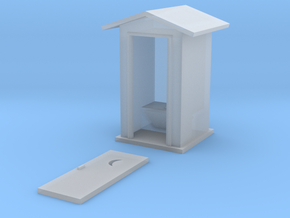 S-Scale Peaked Roof Outhouse in Frosted Ultra Detail
