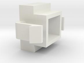 130709 Retainer Switch in White Natural Versatile Plastic