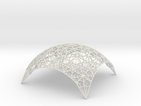 DomeStar in White Natural Versatile Plastic