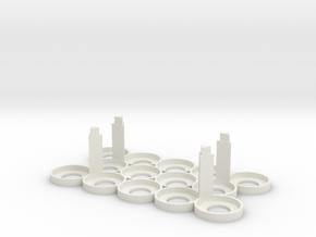Citadel Bottle Holder 5x3 With Support Pillars in White Natural Versatile Plastic