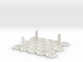 Citadel Bottle Holder 5x5 With Support Pillars in White Natural Versatile Plastic