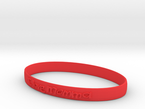 I love Momma Bracelet in Red Processed Versatile Plastic
