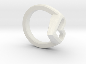 FLYHIGH: Open Hearts Ring 17mm in White Natural Versatile Plastic