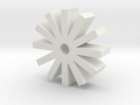 12x MicroSD holder in White Natural Versatile Plastic