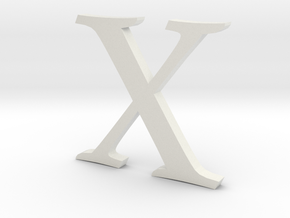 X (letters series) in White Strong & Flexible
