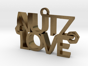 Nutz Love Letters in Raw Bronze