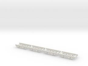 HOn30  10ft industrial chassis steel  in White Strong & Flexible