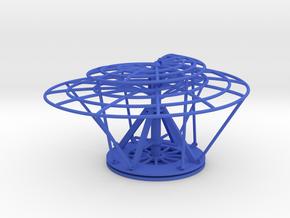 Aerial Screw (Leonardo) in Blue Strong & Flexible Polished