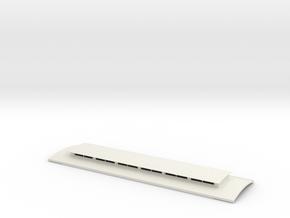 Victorian Railways NG NB platform car roof in White Natural Versatile Plastic