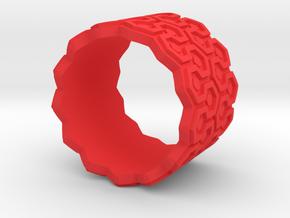 Shining Carpet Ring in Red Processed Versatile Plastic