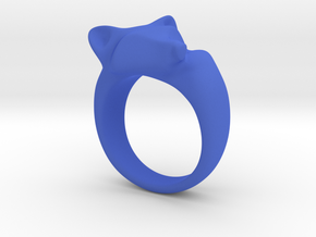 Fox Ring (size 7) in Blue Strong & Flexible Polished