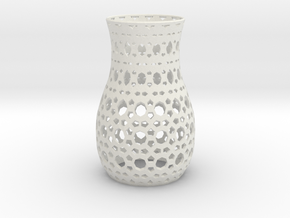 Tealight Sleeve Geometric - Small in White Natural Versatile Plastic