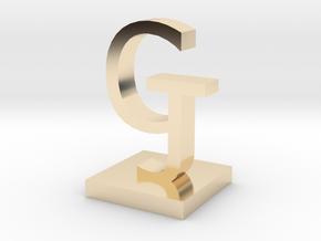 GJ in 14K Yellow Gold