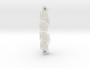 endpieces for roll bar in White Natural Versatile Plastic