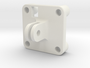FPV Mount 1 in White Natural Versatile Plastic