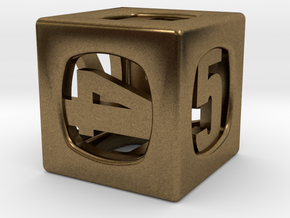 Thoroughly Modern d6 in Natural Bronze