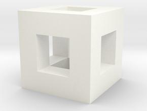 Box Frame in White Processed Versatile Plastic
