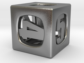 Thoroughly Modern d6 in Natural Silver