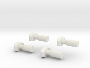 Buffers Nm 1:160 in White Natural Versatile Plastic