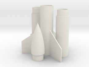 Rocket (engine class B or C) in White Natural Versatile Plastic