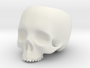 Skull Pot V1 - H100MM in White Strong & Flexible
