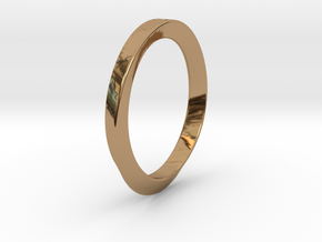 Moebius Triangle Ring in Polished Brass