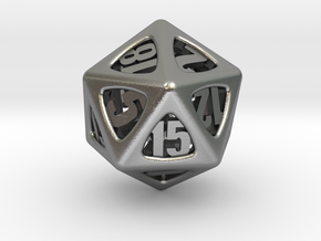 Thoroughly Modern d20 in Natural Silver