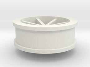 wheel 1 (dnano size) in White Strong & Flexible