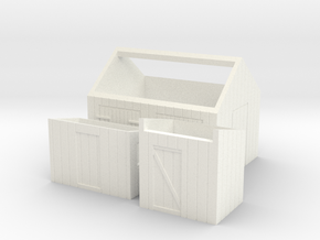 N logging - Small Sheds in White Processed Versatile Plastic