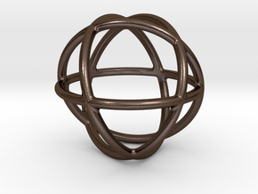 Genesa Ø20mm in Polished Bronze Steel