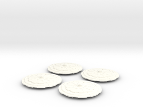 Saucer Pack (McKnight Class) in White Strong & Flexible Polished