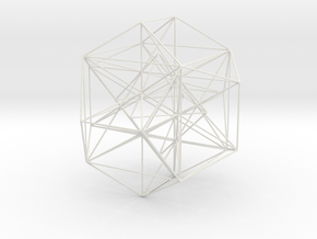 MorphoHedron2-800s15 in White Natural Versatile Plastic