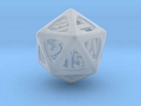 Thoroughly Modern d20 in Smooth Fine Detail Plastic