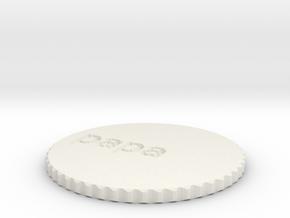 by kelecrea, engraved: papa  in White Natural Versatile Plastic