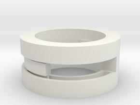 Slider-ring (small) in White Natural Versatile Plastic