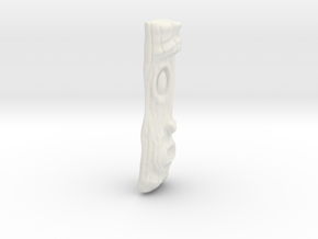 Wood Grain Tiki Pendant in White Strong & Flexible