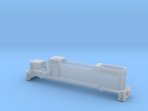 TT Gp38-2 body shell in Smooth Fine Detail Plastic