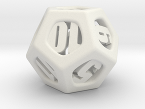Thoroughly Modern d12 in White Natural Versatile Plastic