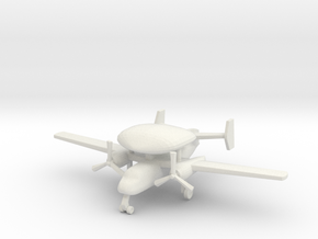 1/285 (6mm) S-2 (E-1B) Tracer in White Natural Versatile Plastic