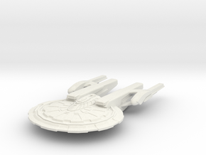Aiken Class Battleship in White Strong & Flexible
