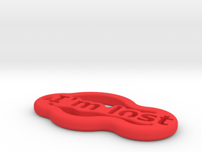 IMPRENTA3D AIM LOST in Red Processed Versatile Plastic