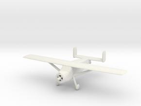 1/200 Max Holste MH1521 'Broussard' in White Natural Versatile Plastic